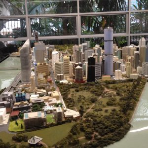 Brisbane City Botanic Gardens Description 2016 City Model located in D Block, at QUT