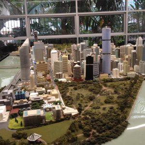 Brisbane City Botanic Gardens Description 2016 City Model located in D Block, at QUT