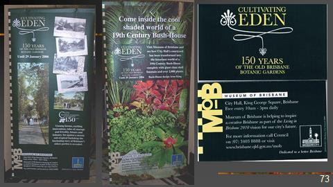 OBBG history 2017 Talk MOB exhibition Cultivating Eden