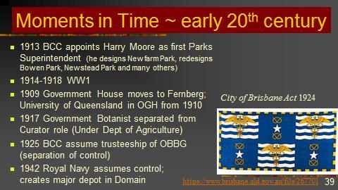 OBBG history 2017 Talk MOMENTS early 20th century