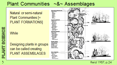 Ex Botanic Gardens planting design Talk: Plant Communities and Assemblages
